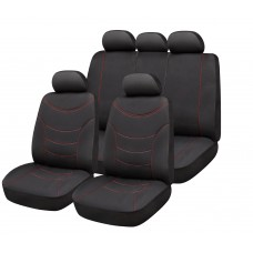 SET OF UNIVERSAL SEAT COVERS CURVE BLACK  by www.parts-zone.hu