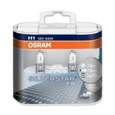Halogen OSRAM SILVERSTAR H1 12V 55W +60% DUO