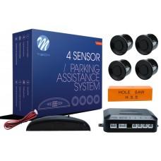 4-sensor parking assist system with digital display - BLACK