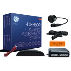 4-sensor parking assist system with digital display - BLACK