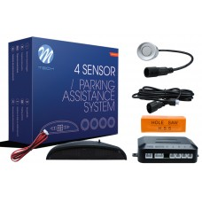 4-sensor parking assist system with digital display - SILVER