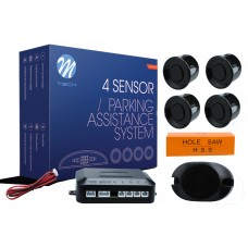 4-sensor parking assist system with buzzer - BLACK