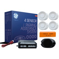 4-sensor parking assist system with buzzer - WHITE