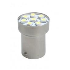 LED L088W- Ba15s, 8x SMD3528, white