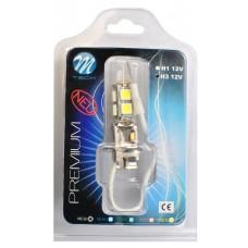 Blister 1x LED H3 X33 - 9xSMD5050 White