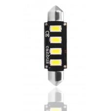 blister 1xL335 LED - C5W 42mm 4xSMD5730 12V CANBUS White