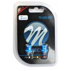 Blister 2x LED L004 - W5W concave Blue