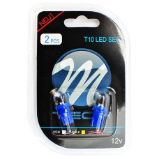 Blister 2x LED L010 - W5W Round Blue