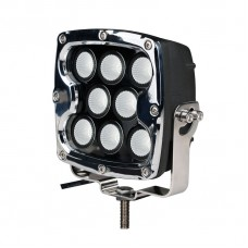 "Driving Light - Side Bracket - Square Chrome, CREE 80W 7"" Spot"