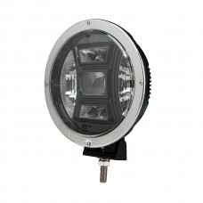 Driving Light - Side Bracker - Round Chrome - CREE 70W 9""