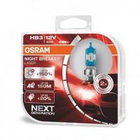 OSRAM NIGHT BREAKER LASER HB3 9005 Next Gen +150% Duo Box